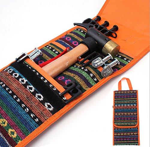 Moonlove - Estacas para tienda de campaña, bolsa de almacenamiento, martillo para tienda de campaña, kit de herramientas, organizador de mano, bolsa de bolsillo