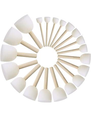 Toyvian Juego de Pinceles de Esponja Redonda Cepillo de Esponja de Espuma para ni/ños Herramientas de Pintura Esponja Pintura stippler para ni/ños Manualidades de Pintura DIY 15 Piezas