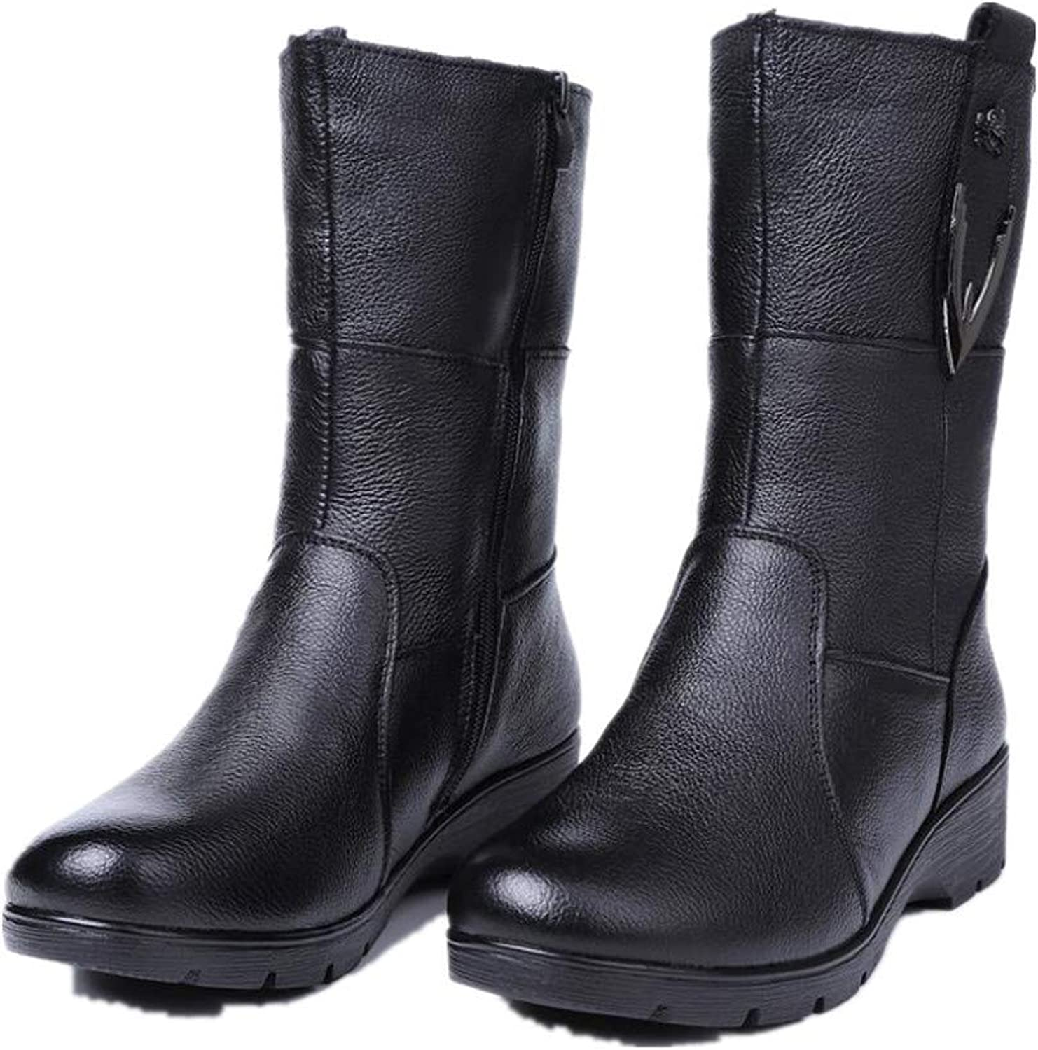 Gusha Women's Winter Snow Boots in The Boots Flat Martin Boots