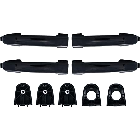 XT Compatible with Hyundai Sonata Exterior Handle 82651-3K000 826513K000 Driver and Passenger Side Left and Right 2005-2010 Black