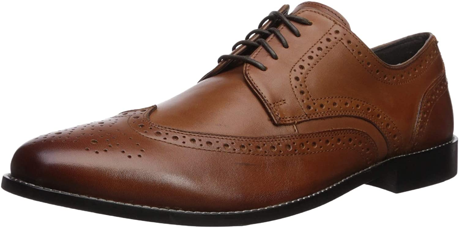 Nunn Bush Hommes's Nelson Wingtip Oxford Robe Décontracté Lace-Up,Cognac11 W US