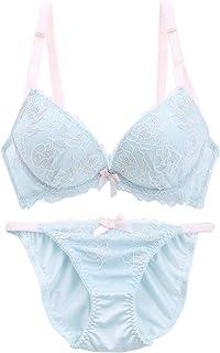 (エクラ)ECLAT クリスタルローズ ブラジャー ショーツ セット 盛りブラ 谷間ブラ 小さいサイズ 小胸