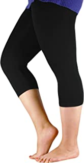 Women's Modal Plus Size Basic Solid Capri Leggings
