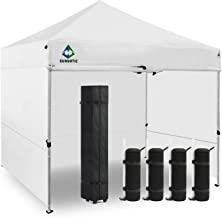 Sunnotic 10'x10' Canopy Tent Pop Up Canopy Portable Shade Instant Heavy Duty Outdoor Gazebo White Pop Up Tent with Carry Bag Bonus 4 SandBags Weight for Outdoor Wedding Party Tent Commercial BBQ Beach