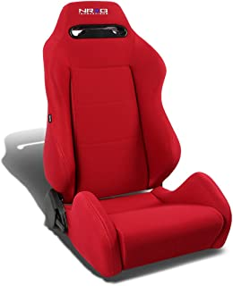 NRG RSC-200-NRG Type-R Universal Racing Seat With Red Stich & NRG Logo (Red, Right)