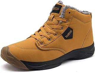 VANDIMI أحذية المشي لمسافات طويلة للرجال في جميع الأحوال الجوية أحذية خارجية مقاومة للماء بأربطة مضادة للانزلاق
