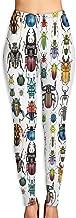 Abusss Beetle Collection Womens Ultra Soft Leggings Fashion High Waist Yoga Pants Printed Sport Workout Leggings Tight Pants