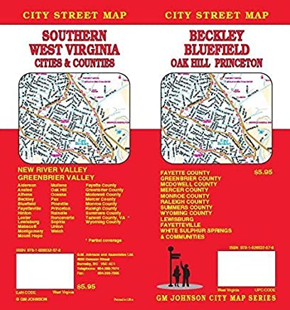 Beckley / Bluefield / Princeton / Southern West Virginia, WV Street Map by GM Johnson (2009-04-15)