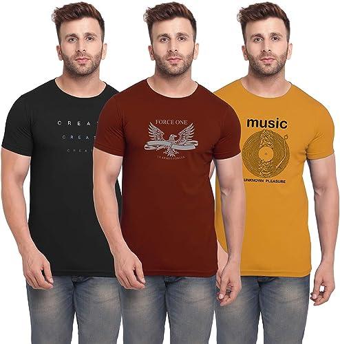 Men s Slim Fit T Shirt Pack of 3