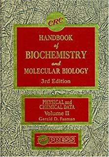 Handbook of Biochemistry: Section D Physical Chemical Data, Volume II