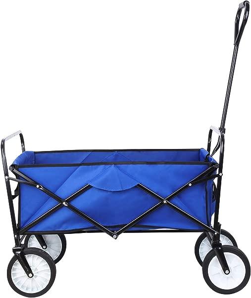 Femor 可折叠户外多功能旅行车重型花园购物车海滩户外蓝色