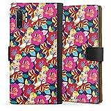 DeinDesign Étui Compatible avec Samsung Galaxy Note 10 Plus Étui Folio Étui magnétique Fleur...
