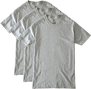 (ヘインズ) Hanes ヘインズ 半袖Tシャツ メンズ 3Pパック インナーTシャツ クルー Vネック 綿100% 黒 グレー ブラック / H4D