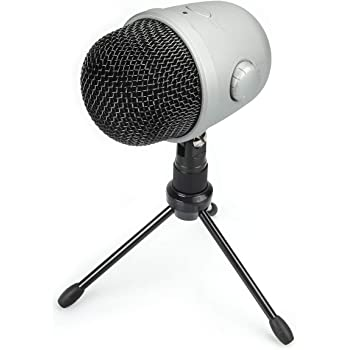 Amazonbasics Desktop Mini Condenser Mic Microphone - Silver