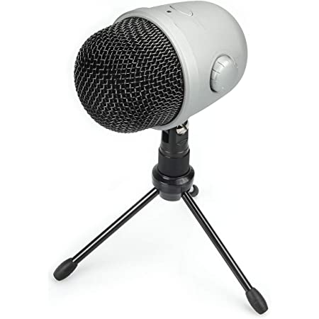 Amazon Basics Desktop Mini Condenser Mic Microphone - Silver