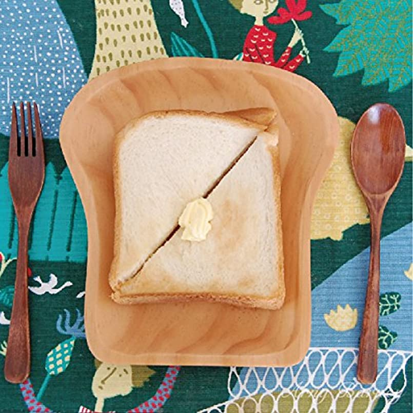 鑑定解放するなぞらえるランチプレート 木 プレート 皿 【食パン型】 プレート 木製 WOOD KITCHEN ウッドキッチン 木製食器 カフェ プレート おうちごはん 絵本の中の食器