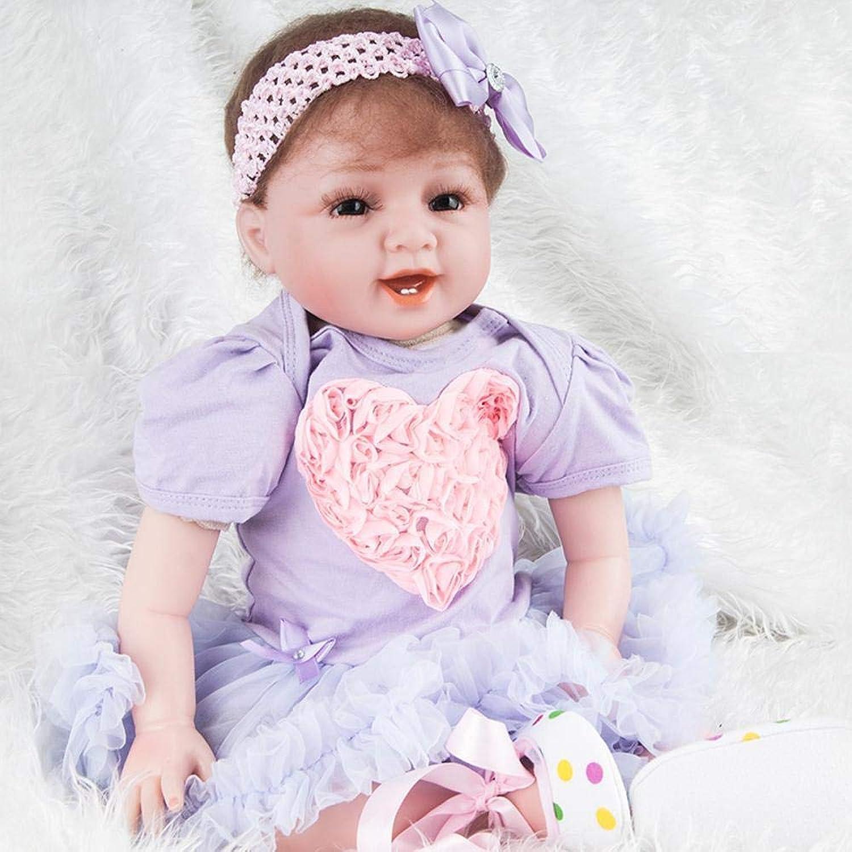 protección post-venta Hongge Reborn Baby Doll,Simulación bebé bebé bebé renacido muñeca Piel como recién Nacido Renacimiento Baby Doll 55cm  estilo clásico