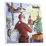 kwb 370117 Adventskalender - Limited Edition - (24 Türchen mit hochwertigem Werkzeug, inkl. Tasche, Tischkalender)