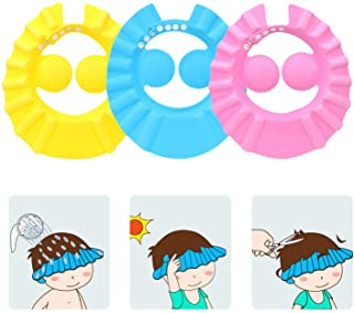 SunTrade 3Pcs Cute Baby Kids Adjustable Shampoo Bath Bathing Shower Cap Hat Wash Hair Shield