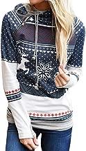 HYIRI Crazy Christmas Women Zipper Tops Blouse T-Shirt