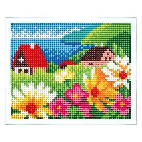 スキルミニギャラリー 花と風景 MG-28 ビーズ リハビリ手芸 元廣 レクリエ ビーズクロスステッチ