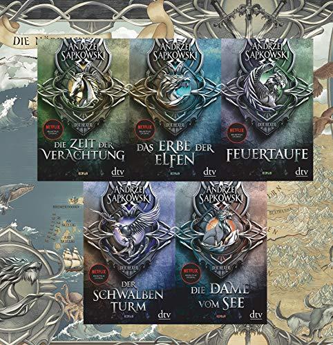 Die Hexer-Saga Band 1-5 plus exklusive Landkarte