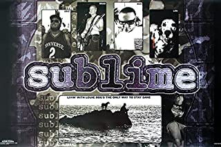 Sublime Livin with Louie Dog Alternative Ska Punk Rock Music Poster Print 24x36
