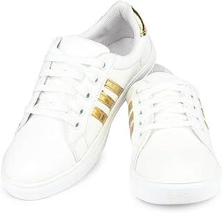 Earton Women White Sports Running Shoe