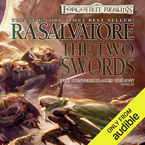 The Two Swords     Legend of Drizzt: Hunter's Blade Trilogy, Book 3              Auteur(s):                                                                                                                                 R. A. Salvatore                               Narrateur(s):                                                                                                                                 Victor Bevine                      Durée: 12 h et 39 min     23 évaluations     Au global 4,8