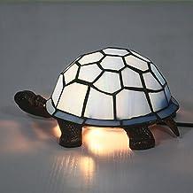 Turtle Table Lamp, Tiffany Loft Glass Shade Style Kids Nightlight Przemysłowe lampy biurkowe Vintage lampki nocne elegant