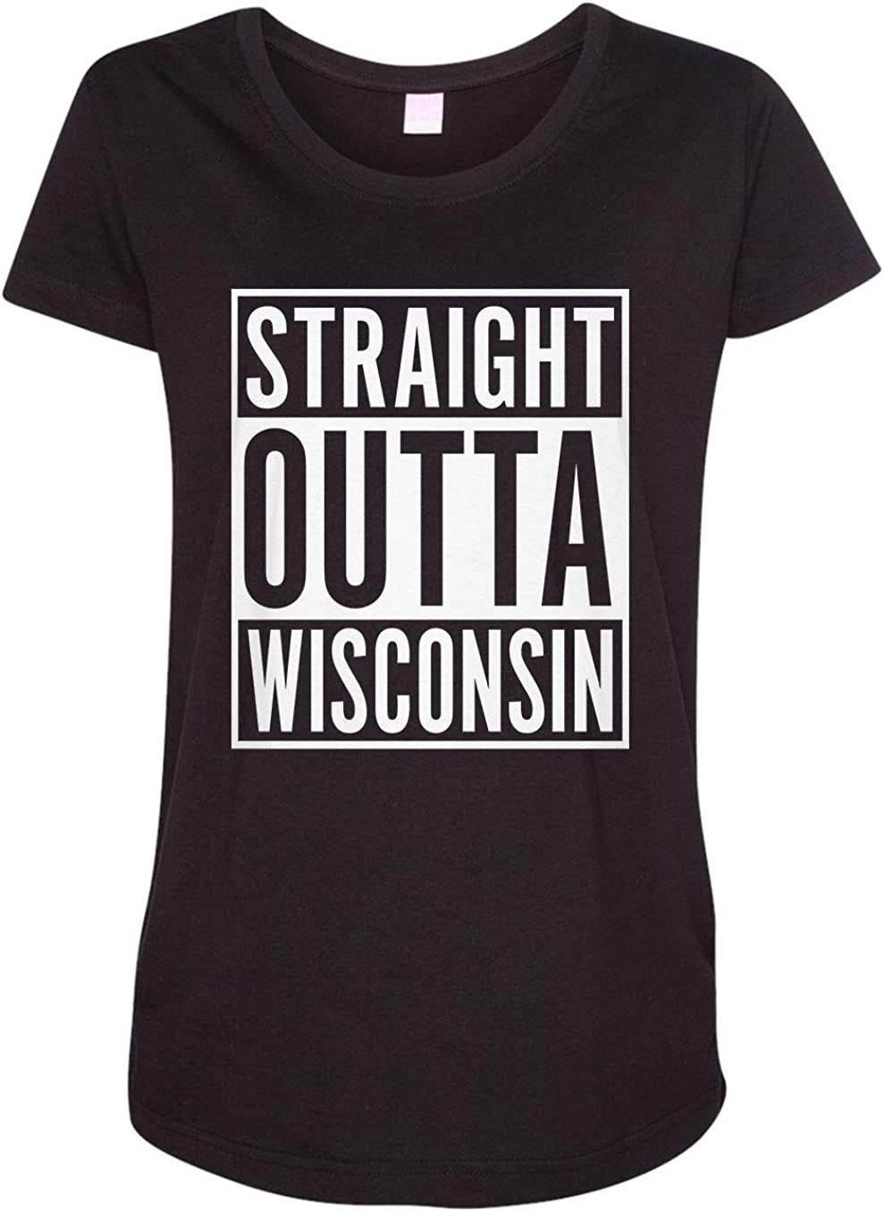 HARD EDGE DESIGN Women's Straight Outta Wisconsin T-Shirt