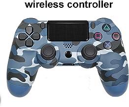 Inalámbrico camuflaje Controlador, para Controlador De Controlador Ps4,Bluetooth 4.0 Doble Cabeza De Cabeza Manipule Mando Mando Game Pad para Jugar Consola 4 Camuflaje azul