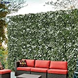 Windscreen4less Artificial Faux Ivy Leaf Decorative Fence Screen 6' x 8' Ivy Leaf Decorative Fence Screen