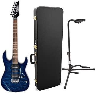 Ibanez GRX70QA GIO Electric Guitar with Knox Gear Electric Guitar Case and Guitar Stand (3 Items)