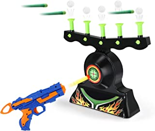 Theefun Electric Targets for Shooting, Hover Shooting Target Compatible with Nerf Targets with Blaster Gun, 10 Pcs Refill Darts, 20 Pcs Orbs for Boys or Girls