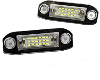 XC90 Accesorios de Coche luz Blanca de la matr/ícula para Volvo V70 S60 CX70 Ocamo Luz de matr/ícula del Coche 18 LED S80