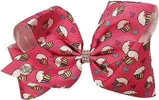JoJo Siwa Large Cheer Hair Bow (Pink w/Cupcakes)