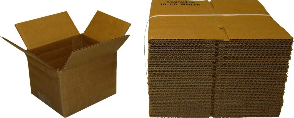 25 Deluxe Brown Cardboard Standard CD Jewel Safety and trust Mailers Case # 10 Holds CDs