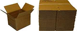 25 Brown Cardboard Standard CD Jewel Case Mailers Holds 10 CDs #CDBC10 - Shipping Boxes with Lock-In Tab - Regular Slotted Containers (RSC)