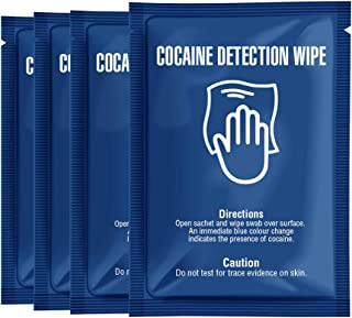 Cocaine Detection Wipes Pack of Sachets - Detect The Presumptive Presence of Cocaine on Any Surface by Swabbing The Area with Wipe Turning Blue Upon Contact with Drugs (4)