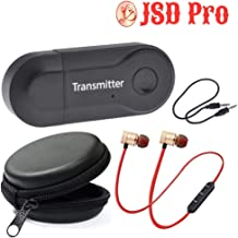 JSD Pro Bluetooth Transmitter BT400 + Ear Candy - A Complete Solution for TV & Music System Audio
