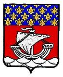 Bestickter Aufnäher Paris Ile de Frankreich, Wappen der Region, Flagge
