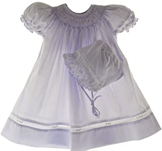 lavender smocked baby dress