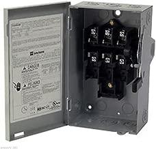 Eaton DG322UGB 3 Wire 3 Pole Non-Fusible B Series General-Duty Safety Switch 240 Volt AC 60 Amp NEMA 1
