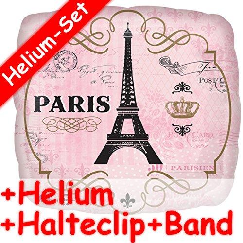 Carpeta Globo * Paris Torre Eiffel * + Helium Relleno + Clip de sujeción + Banda * como Regalo/Globo/Decoración Globo Gas Regalo de cumpleaños Viaje verreisen Helium Amor Rosa