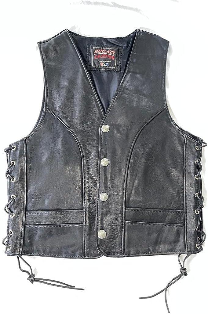 Genuine Leather Biker Vest