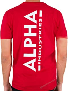 ALPHA INDUSTRIES Backprint T Camiseta para Hombre