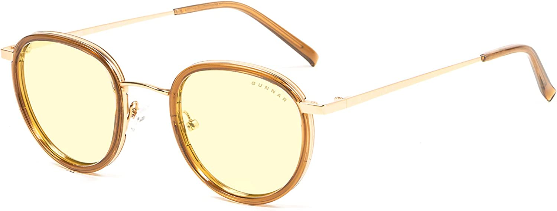 GUNNAR - Gaming and Computer Glasses - Blocks 65% Blue Light - Atherton, Gold, Amber Tint