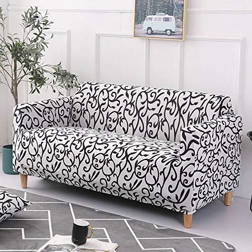 WXQY Funda Protectora de sofá elástica con patrón de Sarga geométrica, Funda Protectora de Muebles, sillón y Funda de sofá elásticos, Toalla de sofá A7 de 4 plazas