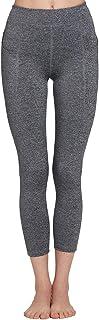 Camii Mia Women's High Waist Out Pocket Yoga Pants Workout Running 4 Way Stretch Yoga Leggings